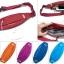 กระเป๋าคาดเอววิ่ง ผ้าร่มกันน้ำ สีม่วง ช่องใส่ของ 3 ซิป Size M thumbnail 2