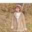 Pre-Order เสื้อโค้ทฮู้ดชายระบาย ปักลายใบไม้แห้ง สีเอิร์ทโทน thumbnail 8