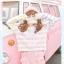 Pre-Order กระโปรงสั้นสีชมพูผ้าWool แต่งริบบิ้นปักลายแมว thumbnail 3
