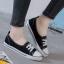 รองเท้าผ้าใบ ส้นเเบน(สีดำ) thumbnail 2