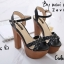 รองเท้าส้นสูง สไตล์เกาหลีงานนำเข้า(สีดำ) thumbnail 3