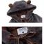 Pre-Order แจ๊คเก็ตฮู้ดหมีขนนุ่ม สีเทา บุผ้าฝ้ายด้านใน thumbnail 17
