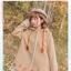 Pre-Order เสื้อโค้ทฮู้ดชายระบาย ปักลายใบไม้แห้ง สีเอิร์ทโทน thumbnail 3