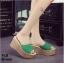 รองเท้าส้นเตารีด สไตล์เกาหลี(สีเขียว) thumbnail 4