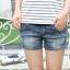 กางเกงยีนส์ขาสั้นคนท้อง สไตล์เซอร์ สียีนส์ฟอกซีด thumbnail 3
