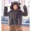Pre-Order แจ๊คเก็ตฮู้ดหมีขนนุ่ม สีเทา บุผ้าฝ้ายด้านใน thumbnail 12