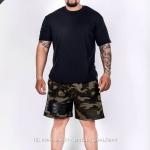 กางเกงขาสั้น พรีเมี่ยม ผ้า COTTON รหัส WT 277 B สีทหาร แถบ ดำ