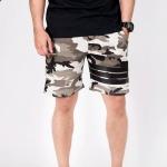 กางเกงขาสั้น พรีเมี่ยม ผ้า วอร์ม รหัส WT 278 B ลายทหาร แถบ ดำ