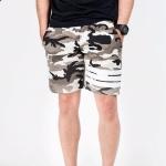 กางเกงขาสั้น พรีเมี่ยม ผ้า วอร์ม รหัส WT 278 WW ลายทหาร แถบ ขาว