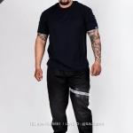 กางเกง JOGGER พรีเมี่ยม ผ้า COTTON 100% รหัส SS T615 TaxฺB สีดำ แถบแท็กดำ