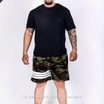 กางเกงขาสั้น พรีเมี่ยม ผ้า COTTON รหัส WT 277 W สีทหาร แถบ ขาว
