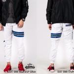 กางเกง JOGGER พรีเมี่ยม ผ้า COTTON รหัส SST 622 TAX JAP Blue สีขาว แถบน้ำเงิน