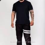 กางเกง JOGGER พรีเมี่ยม ผ้า COTTON 100% รหัส SS T615 TaxWสีดำ แถบแท็กขาว