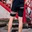 กางเกงขาสั้น พรีเมี่ยม ผ้า COTTON รหัส SST 215 Brown SN สีดำ แถบน้ำตาลงู thumbnail 12