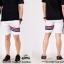 กางเกงขาสั้น พรีเมี่ยม ผ้า COTTON รหัส SST 222 TAX JAP RedBlue สีขาว แถบแดงน้ำเงิน thumbnail 2