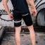 กางเกงขาสั้น พรีเมี่ยม ผ้า COTTON รหัส SST 215 B SN สีดำ แถบดำงู thumbnail 11