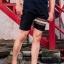 กางเกงขาสั้น พรีเมี่ยม ผ้า COTTON รหัส SST 215 Brown SN สีดำ แถบน้ำตาลงู thumbnail 10