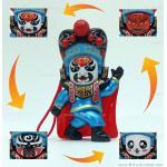 ตุ๊กตาจีน เปลี่ยนหน้ากากได้ (มี 4 หน้า) - สีฟ้า