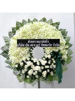 พวงหรีดดอกไม้สด รหัส 5028