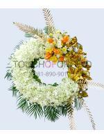 พวงหรีดดอกไม้สด รหัส 5019