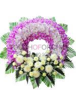 พวงหรีดดอกไม้สด รหัส 5013