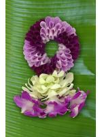 พวงมาลัยดอกไม้สด ขนาดกลาง รหัส 3301