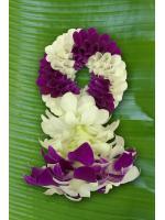 พวงมาลัยดอกไม้สด ขนาดกลาง รหัส 3302