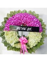 พวงหรีดดอกไม้สด รหัส 5024
