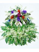พวงหรีดดอกไม้สด รหัส 5021