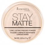 RIMMEL STAY MATTE PRESS POWDER แป้งพัฟไม่ผสมรองพื้นเนื้อแป้งมิเนอรอลเบาบาง เนียนสุดๆ คุมมันดีเยี่ยม ดีมากๆค่ะ