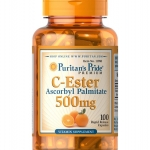 Puritan's Pride C-Ester Ascorbyl Palmitate 500 mg. 100 capsules ดูดซึมได้ดีกว่าวิตามินซีทั่วไป จากอเมริกาค่ะ