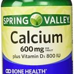 Spring Valley Calcium 600 mg + vitamin D3 800 IU 250 เม็ด แคลเซี่ยม บำรุงกระดูก จากอเมริกาค่ะ