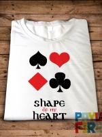 เสื้อยืด Shape of my heart