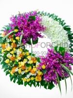 พวงหรีดดอกไม้สด รหัส 5016