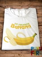 เสื้อยืด Let's get naked banana