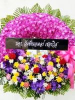 พวงหรีดดอกไม้สด รหัส 5027