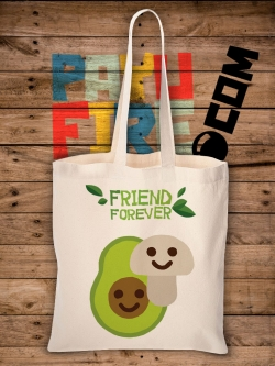 กระเป๋าผ้าดิบ Friend Forever