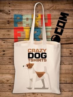 กระเป๋าผ้าดิบ Crazy dog T shirt