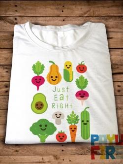 เสื้อยืด Just eat right