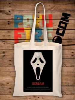 กระเป๋าผ้าดิบ Scream