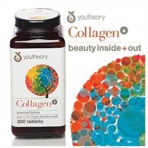 Youtheory Collagen 390 Tablets Collagen Type1,2,3 พร้อมกรดอะมิโนต่างๆที่จำเป็นถึง 18 ชนิด ช่วยบำรุงผม,ผิวพรรณ,เล็บให้แข็งแรง สุขภาพดี สวยจากภายในถึงภายนอกค่ะ