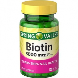 Spring valley Biotin 5000 mcg, 120 Tablets ช่วยบำรุงผิว ผม และเล็บเข้มข้นขึ้นด้วย biotin ถึง 5000 mcg.จากอเมริกาค่ะ