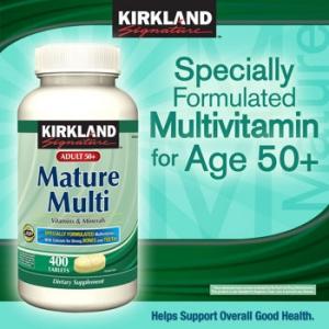 Kirkland Mature Adult50+ Multi Compare to Centrum Silver วิตามินรวมสำหรับผู้มีอายุ 50 ปีขึ้นไป 400 เม็ดค่ะ