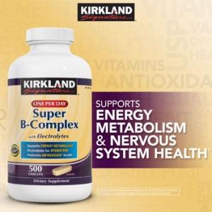 Kirkland Super B Complex with Electrolytes 500 เม็ด ช่วยคลายเครียดและบำรุงระบบประสาทให้ทำงานอย่างเต็มประสิทธิภาพค่ะ