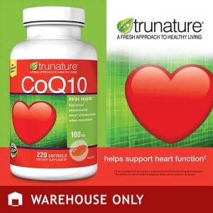 ขนาดใหม่ สุดคุ้ม Trunature Coenzyme Q10 100 mg. ขนาด 220 เม็ด