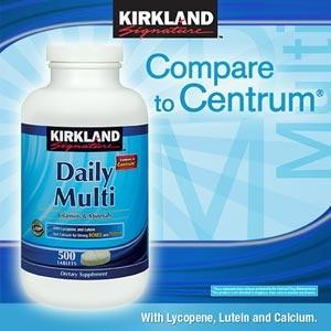 Kirkland Daily Multi วิตามินรวม 500 เม็ด มี Lycopene และ Lutein (Compare to Centrum) ขวดใหญ่ สุดคุ้มค่ะ