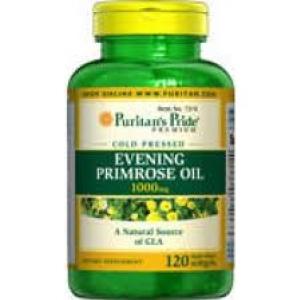Puritan's Pride Evening Primrose Oil 1000 mg.จากธรรมชาติ อุดมไปด้วย Omega6 ขนาด 120 เม็ด