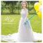 ชุดแต่งงาน ไหล่ปาด แขนสั้น หางยาว thumbnail 2