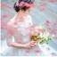 ชุดแต่งงาน ไหล่ปาด แขนสี่ส่วน หางยาว thumbnail 6