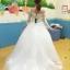 ชุดแต่งงาน ไหล่ปาด แขนยาว thumbnail 14